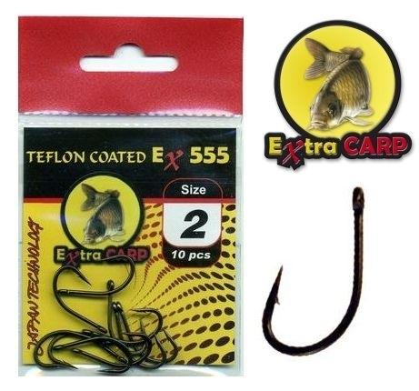 Extra Carp Teflon Hooks série Ex 555
