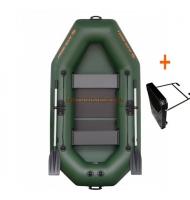 Člun Kolibri K-240 T zelený lamelová podlaha + držák