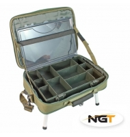 NGT Stolek v Kufříku Box Case Tackle Bag with Bivvy Table