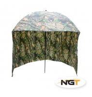 NGT Deštník s bočnicí kamuflážní 2,20m